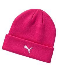 PUMA - Pink Control Golf Beanie for Men - Lyst