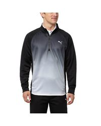 PUMA | Black Tee Time Knit Quarter-zip Top for Men | Lyst