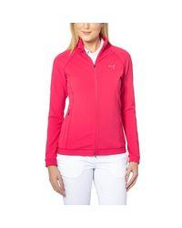 PUMA | Pink Golf Track Jacket | Lyst