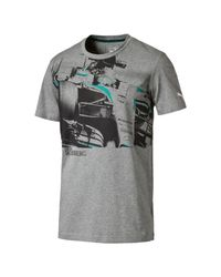 PUMA - Gray Mercedes Graphic T-shirt for Men - Lyst
