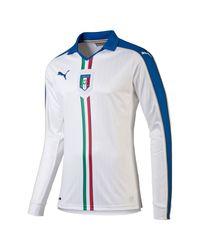 PUMA | Blue 2015/16 Figc Italia Away Long Sleeve Replica Jersey for Men | Lyst