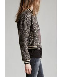 R13 | Gray Leopard Wool Roadie | Lyst