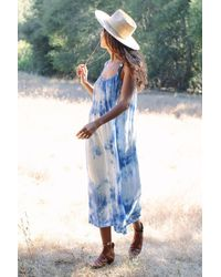 Rachel Pally Blue Rayon Tie-die Caity Dress