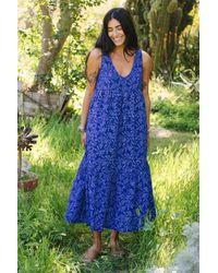 Rachel Pally Blue Cotton Amelia Dress