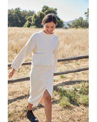 Rachel Pally Natural Sweater Rib Lolo Skirt