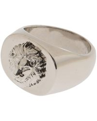 Versace - Metallic Ring For Men for Men - Lyst