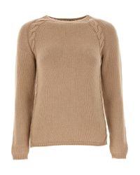 Max Mara Natural Sweater For Women Jumper