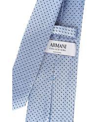 Cravates Pas cher en Soldes Giorgio Armani pour homme en coloris Blue