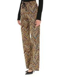 Pantalon Femme Pas cher en Soldes Missoni en coloris Metallic