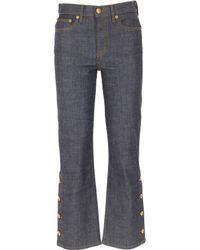 Denim Jeans In Saldo di Tory Burch in Blue