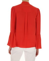 Michael Kors Red Top For Women On Sale