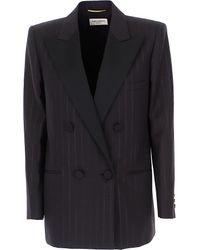 Veste Femme Pas cher en Soldes Saint Laurent en coloris Black