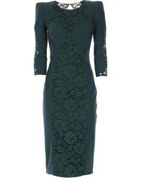 Vestido de Mujer Elisabetta Franchi de color Green