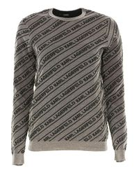 Pull Femme Pas cher en Soldes Karl Lagerfeld en coloris Gray