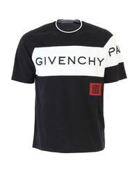 T-shirt oversize à logo imprimé Givenchy pour homme en coloris Black