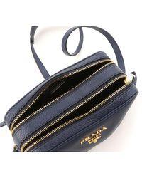 Prada Blue Calf Leather Shoulder Bag