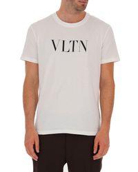 T-Shirt Uomo In Saldo di Valentino in White da Uomo