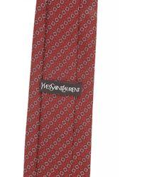 Saint Laurent - Red Ties for Men - Lyst