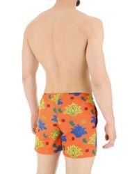 Swim Shorts Trunks for Men In Outlet di Gallo in Orange da Uomo