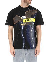 T-Shirt Uomo In Saldo di Palm Angels in Black da Uomo