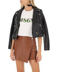 T-Shirt Donna In Saldo di MSGM in White