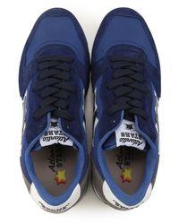 Atlantic Stars Men's Blue Suede Sneakers for men