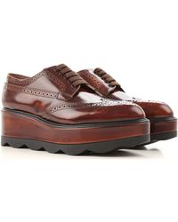 Prada - Brown Wedges For Women On Sale In Outlet - Lyst