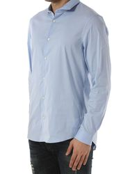 Camicia Uomo In Saldo di Michael Kors in Blue da Uomo