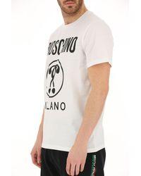 T-shirt à logo imprimé Moschino pour homme en coloris White