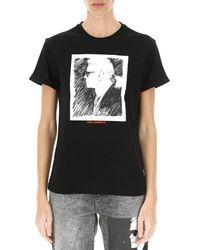 T-shirt Femme Pas cher en Soldes Karl Lagerfeld en coloris Black