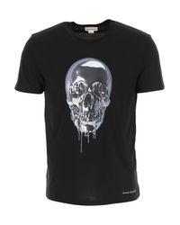 Camiseta de Hombre Baratos en Rebajas Alexander McQueen de hombre de color Black