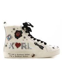 Sneaker Femme Pas cher en Soldes Outlet Karl Lagerfeld en coloris White