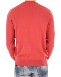 Brunello Cucinelli - Red Crew-neck Wool-blend Sweater for Men - Lyst