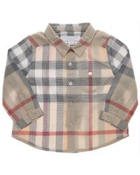 5b5a54bb01be7 Lyst - Burberry Baby Shirts For Boys in Natural for Men