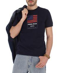 T-Shirt Uomo In Saldo di Woolrich in Blue da Uomo