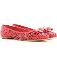 Ferragamo - Red Shoes For Women - Lyst