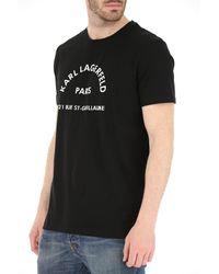 T-Shirt Uomo di Karl Lagerfeld in Black da Uomo