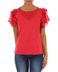Liu Jo Red T-shirt For Women