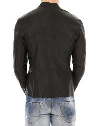 Desa Black Leather Jacket For Men On Sale for men