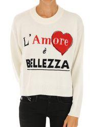 Dolce & Gabbana - White Sweater For Women Jumper - Lyst