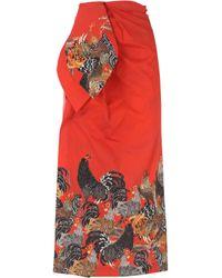 Robe Femme Pas cher en Soldes Stella Jean en coloris Red
