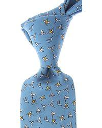Cravates Pas cher en Soldes Fefe Napoli pour homme en coloris Blue
