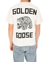 T-shirt Homme Pas cher en Soldes Golden Goose Deluxe Brand pour homme en coloris White