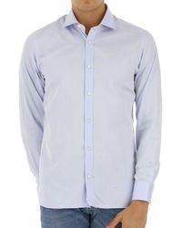 Camicia Uomo In Outlet di Ermenegildo Zegna in Blue da Uomo
