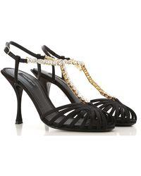 Dolce & Gabbana Black Sandalen für Damen Günstig im Sale