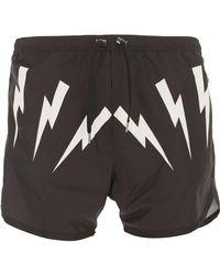 Neil Barrett - Black Swimwear For Men for Men - Lyst