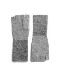 Rag & Bone Gray Merino Wool Blend Fingerless Gloves