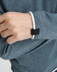 Rag & Bone Blue Trent Contrast - Trimmed Sweater for men