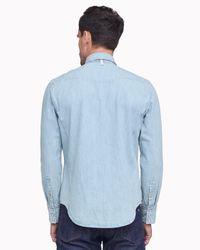 Rag & Bone - Blue Beck Shirt for Men - Lyst