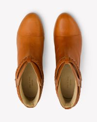Rag & Bone | Brown Harrow Leather Ankle Boots | Lyst